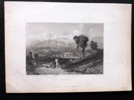 Finden works of Byron C1835 Antique Print. The Tiber, Italy